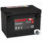 Batería Tudor Technica TB708 Terminal frontal para coche 70Ah
